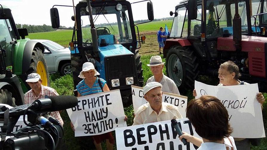До президента кубанские фермеры на тракторах не доехали, но внимание привлекли