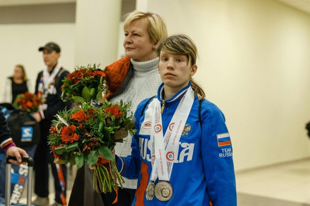 Российская сборная команда привезла в Москву 44 золотых медали Всемирных зимних специальных олимпийских игр