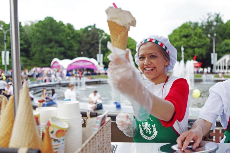 С начала фестиваля «Московская весна A Cappella» его гости купили более 300000 порций мороженого