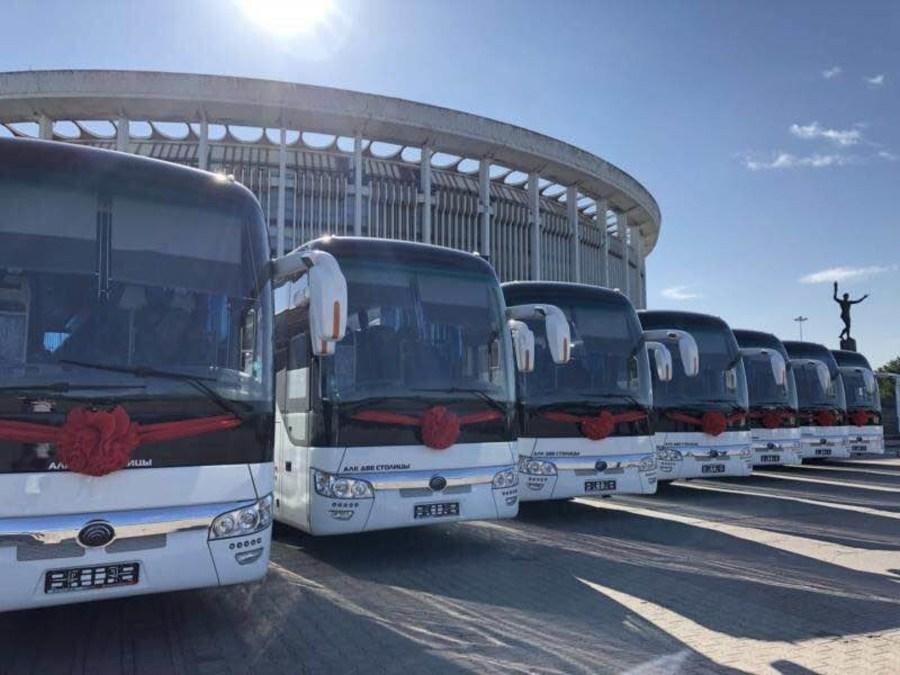 Триста автобусов Yutong Bus работает на ЧМ по футболу-2018
