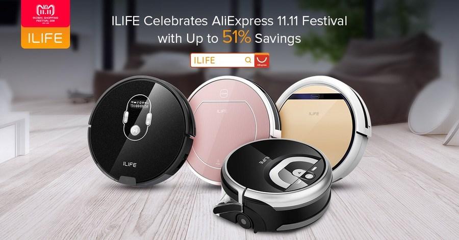 ILIFE обещает скидки до 51% на шопинг-фестивале AliExpress 11.11