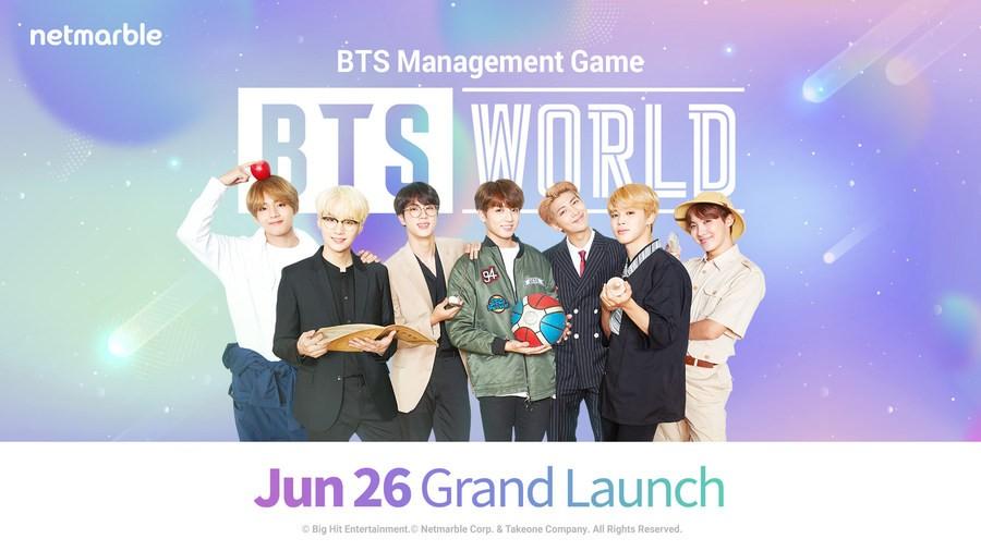 Netmarble объявила о старте мобильной игры BTS WORLD вечером 26 июня