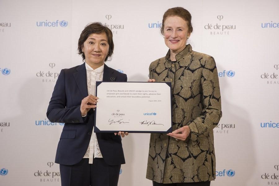 Партнерство Clé de Peau Beauté с ЮНИСЕФ обеспечит поддержку 6,5 млн девушек