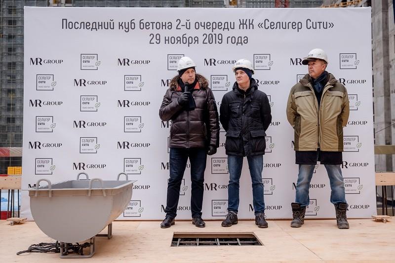 Во 2-й очереди ЖК «Селигер Сити» завершены бетонные работы