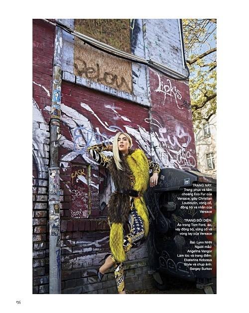 Обложку Harper's Bazaar Vietnam украсило фото блогера и модели Ангелины Вангор