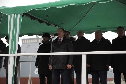 Михаил Романов поздравил корабелов со спуском на воду противоминного тральщика нового поколения